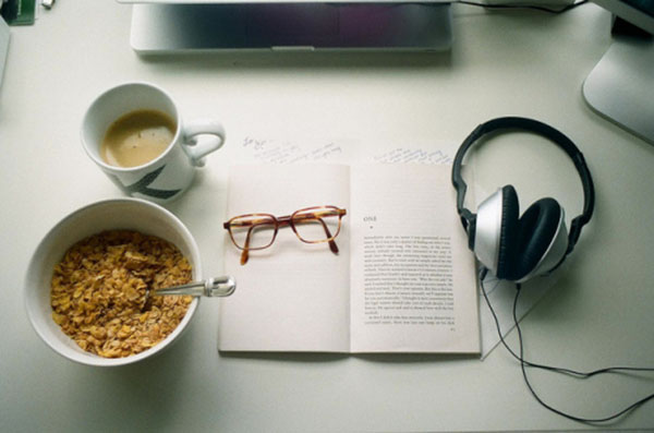 headphones coffee cereal book by Kevin_Morris via Flickr Creative Commons